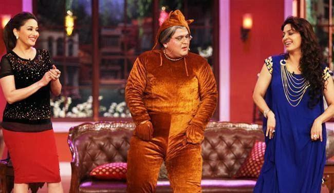 Juhi And Madhuri Promoting Gulaab Gang On The Sets Of Comedy Nights With Kapil