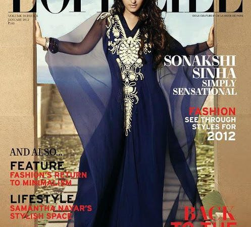 Sonakshi Sinha on L'Officiel Cover Page