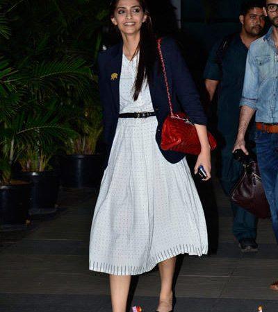 Sonam Kapoor Returns From Indore To Mumbai