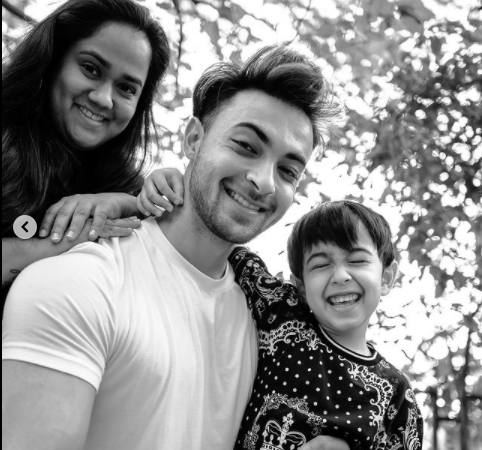 Aayush Sharma shares adorable family pics