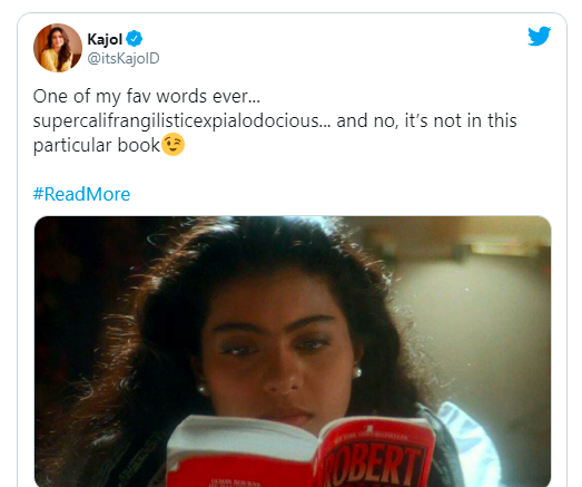 Kajol shares her love for books in yet another post reveals her favorite word