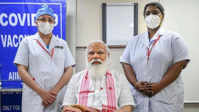 PM Modi Gets the First Jab of COVID Vaccine